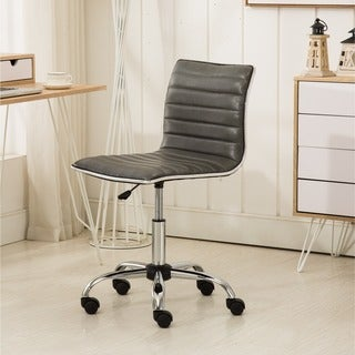 Carson Carrington Lund Black Chrome Contemporary Office Chair
