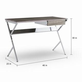Strick & Bolton Krog Contemporary Metal Chrome 1-drawer Writing Desk