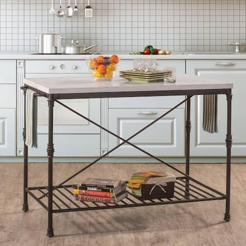 Carbon Loft Ruby Textured Black Finish Metal Kitchen Cart
