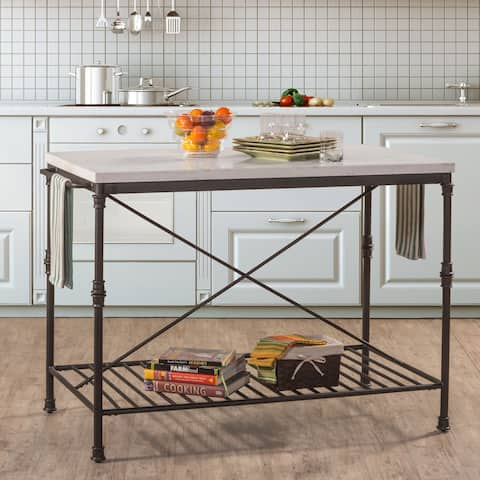 Carbon Loft Ruby Textured Black Finish Metal Kitchen Cart