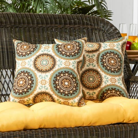 Dataw Outdoor 17-inch Accent Pillow (Set of 2) by Havenside Home - 17w x 17l