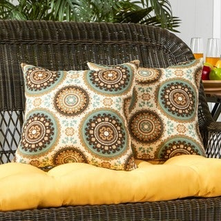 Havenside Home Dataw Outdoor 17-inch Accent Pillow (Set of 2)