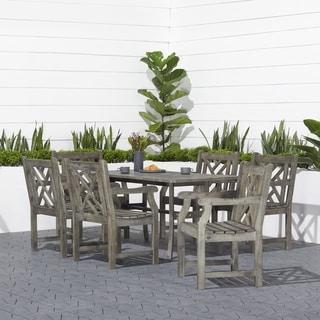 Havenside Home Surfside Hardwood 7-piece Outdoor Dining Set