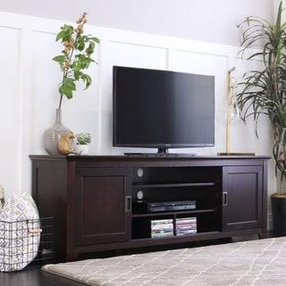 Strick & Bolton Tribolo 70-inch Espresso Sliding Door TV Console