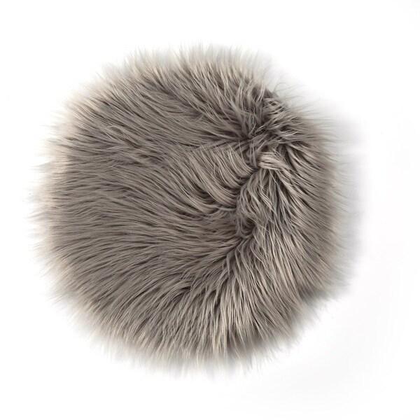Plush Throw Rug: Shop Plush Round Carpet Throw Rug Anti-Skid Shaggy Area