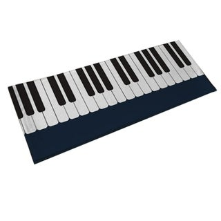 Piano Carpet Bedroom Bedside Living Room Black And White Piano Kids Pad Rug(1'3*3'3)