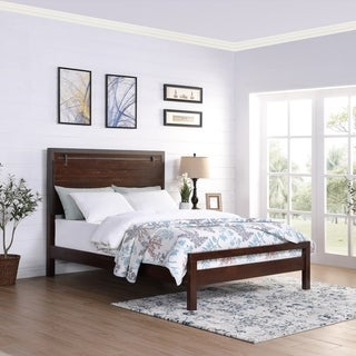 Fennimore Queen-Sized Acacia Wood and Iron Bed Frame by Chirstopher Knight Home