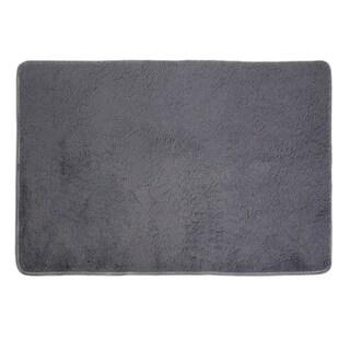 Fiber House Living Room Bedroom Carpet Anti-Skid Shaggy Area Rug Floor Mat(Gray)
