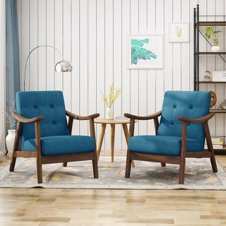 Chabani Mid-Century Modern Accent Chairs (Set of 2) by Chirstopher Knight Home