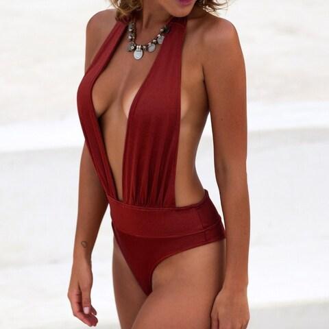 One Piece Swimsuit Women Swimwear Bathing Suit Beachwear Gold velvet