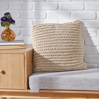 Farlie Knitted Cotton Pillow by Chirstopher Knight Home