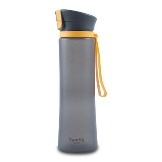 INNOKA 34 OZ Leakproof Flip-Top Silicone Coated Glass Sports Bottle for Outdoor Camping Hiking Running