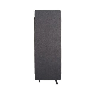 Offex Wall Partition Privacy Screen Freestanding Acoustic Room Divider, Expansion Panel for Office, Classroom - Slate Gray