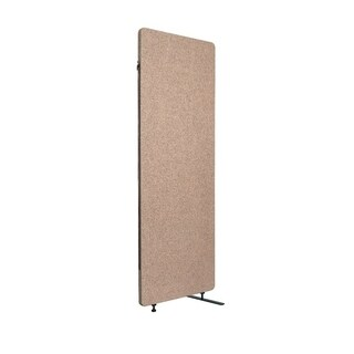 Offex Reclaim Acoustic Fabric Room Divider Expansion Panel In Desert Sand