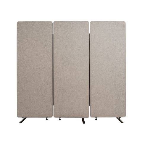 Offex Acoustic Fabric Room Divider In Misty Gray - 3 Pack