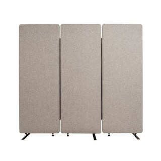 Offex Reclaim Acoustic Fabric Room Divider In Misty Gray - 3 Pack