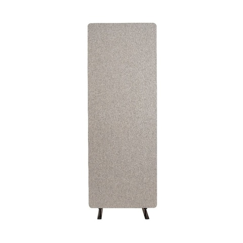 Offex Acoustic Fabric Single Panel Room Divider In Misty Gray