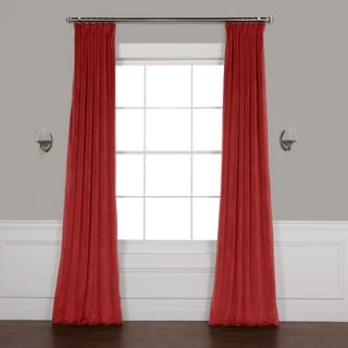"Link to Exclusive Fabrics Heritage Plush Velvet Curtain 84"" in Forestry Green (As Is Item) Similar Items in As Is"