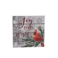 """Joy to the World"" Caridnal Wood Block"