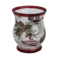 Crack Glass Pine Cone Tealight Holder
