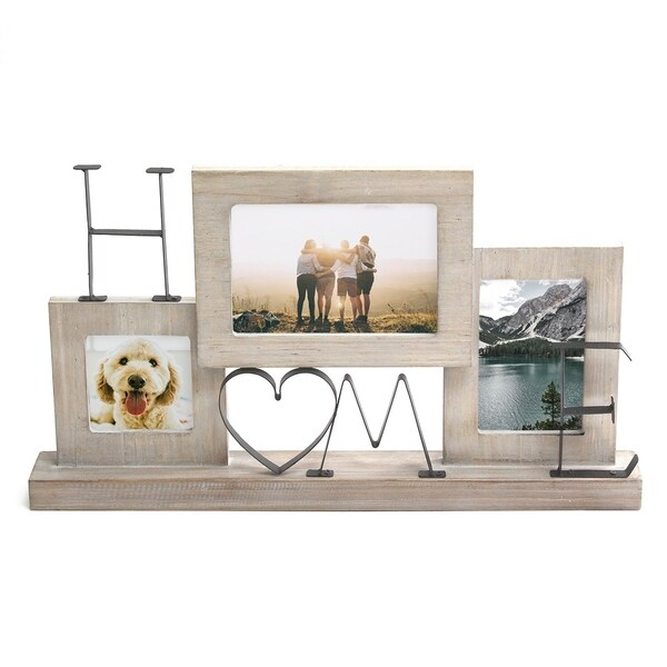 """Stratton Home Decor Tabletop """"Home"""" Picture Collage Frame"""