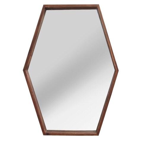 Stratton Home Decor JoJo Wood Mirror - Dark Brown