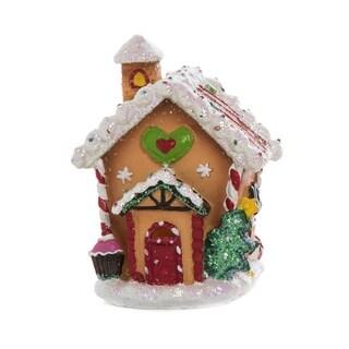 Resin Light Up Gingerbread House Decor