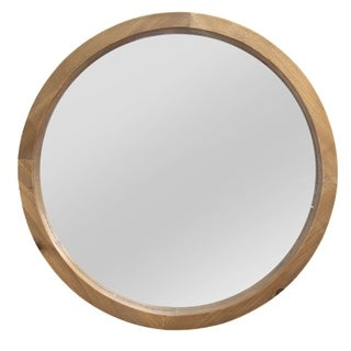 Stratton Home Decor Maddie Wood Mirror - Light Brown - A/N