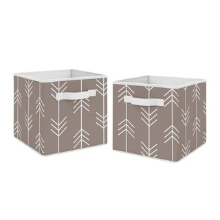 Sweet Jojo Designs Stone Arrow Outdoor Adventure Collection Foldable Fabric Storage Cube Bins Boxes (Set of 2)
