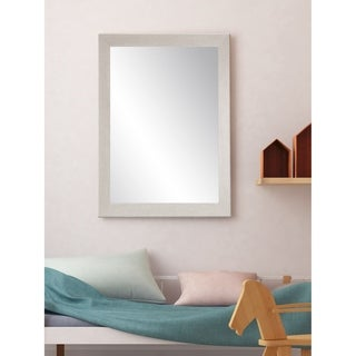 Farmhouse Gray Wood Grain Wall Mirror