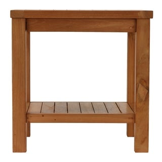"Bare Decor Gaston Outdoor or Indoor Solid Teak Wood End Table, 20"" x 20"""