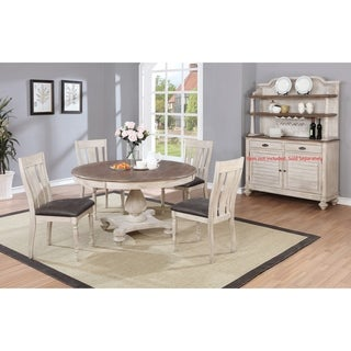 Link to Arch Weathered Oak Dining Set: Round Table, Four Chairs Similar Items in Dining Room & Bar Furniture