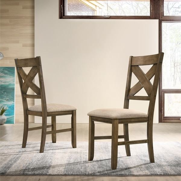 upholstered dining chairs floral raven wood fabric upholstered dining chair set of shop free