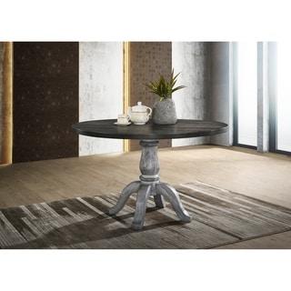 Iris Round Pedestal Wood Dining Table