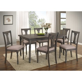 Ashton 7-Piece Wood Dining Set: Table and Six Chairs