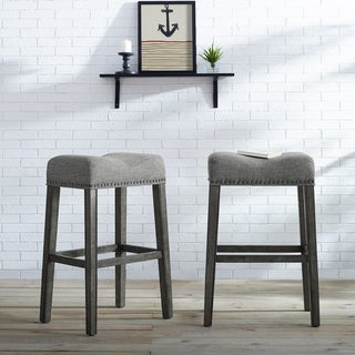Link to The Gray Barn Overlook Upholstered Backless Bar Stool (Set of 2) Similar Items in Dining Room & Bar Furniture