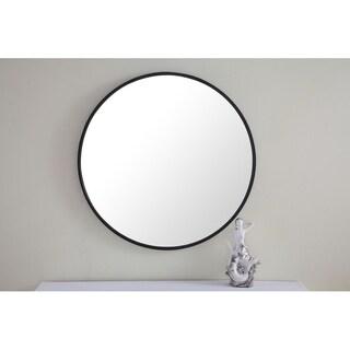 Round 28 Inch Metal Frame Mirror