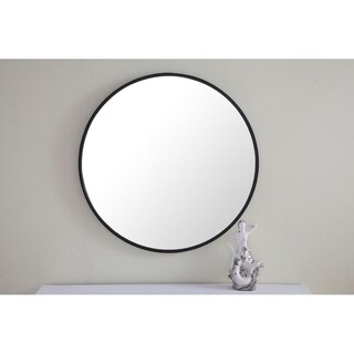 Strick & Bolton Prine 28-inch Metal Frame Round Mirror