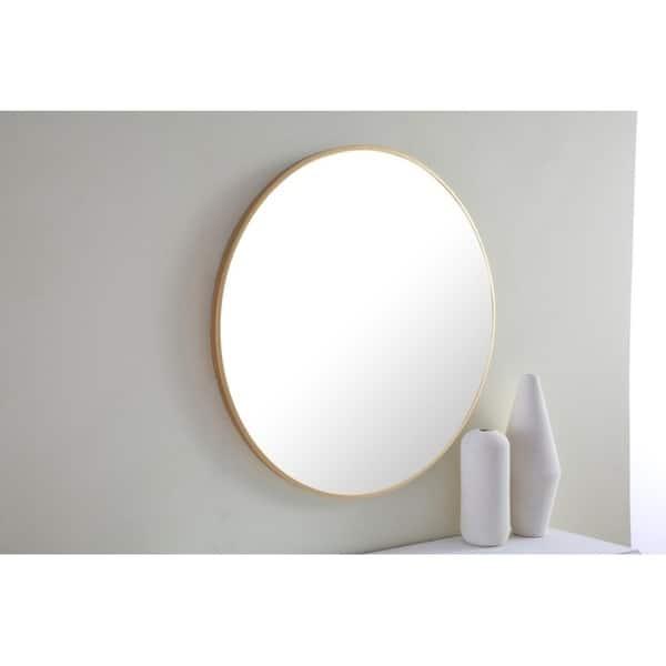 Strick Bolton Prine 28 Inch Metal Frame Round Mirror