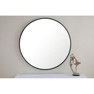 Round 32 Inch Metal Frame Mirror