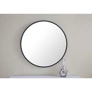 24-inch Metal Frame Round Mirror
