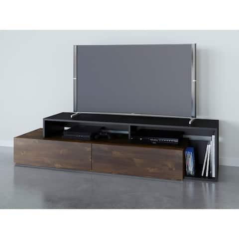 Nexera Paisley 72 inch TV Stand, Truffle and Black