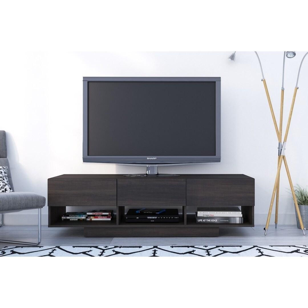 Nexera Rustik 60 Inch Tv Stand With 3