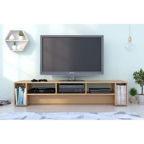 Nexera Rustik 72 inch TV Stand, Natural Maple