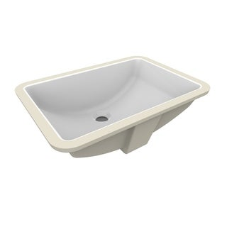 A&E Bath and Shower Fusion Undermount Ceramic Basin in White