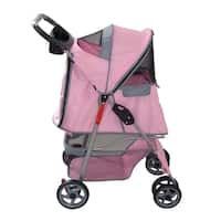 Anima 4 Wheels Pink Pet Stroller