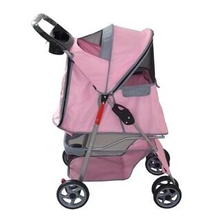 Anima 4 Wheels Pink Pet Stroller