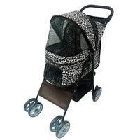 Anima 4 Wheels Leopard Pet Stroller