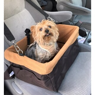 """Anima Pet Boost Car Seat , for Small Pets, 16"""", Foldable, Brown"""