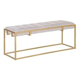 Tommy Hilfiger Ellery Satin Goldtone Metal Rectangle Bench